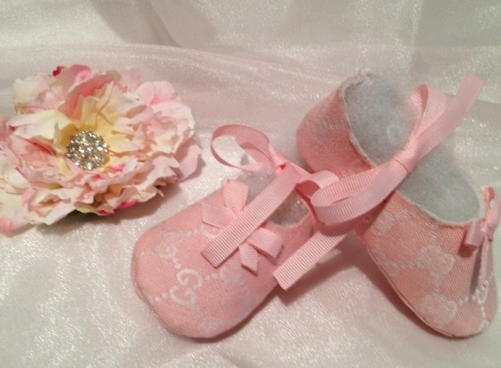 5ef3593b162 Gucci Baby Girl Pink Shoes